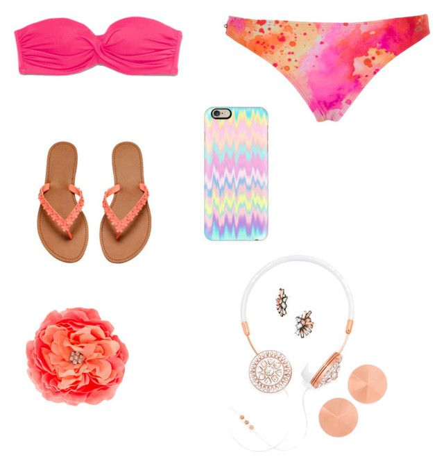 """Going swimming"" by beccaboolangston ❤ liked on Polyvore"
