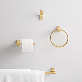Photo of Modern Overhang Bath Hardware – Brass