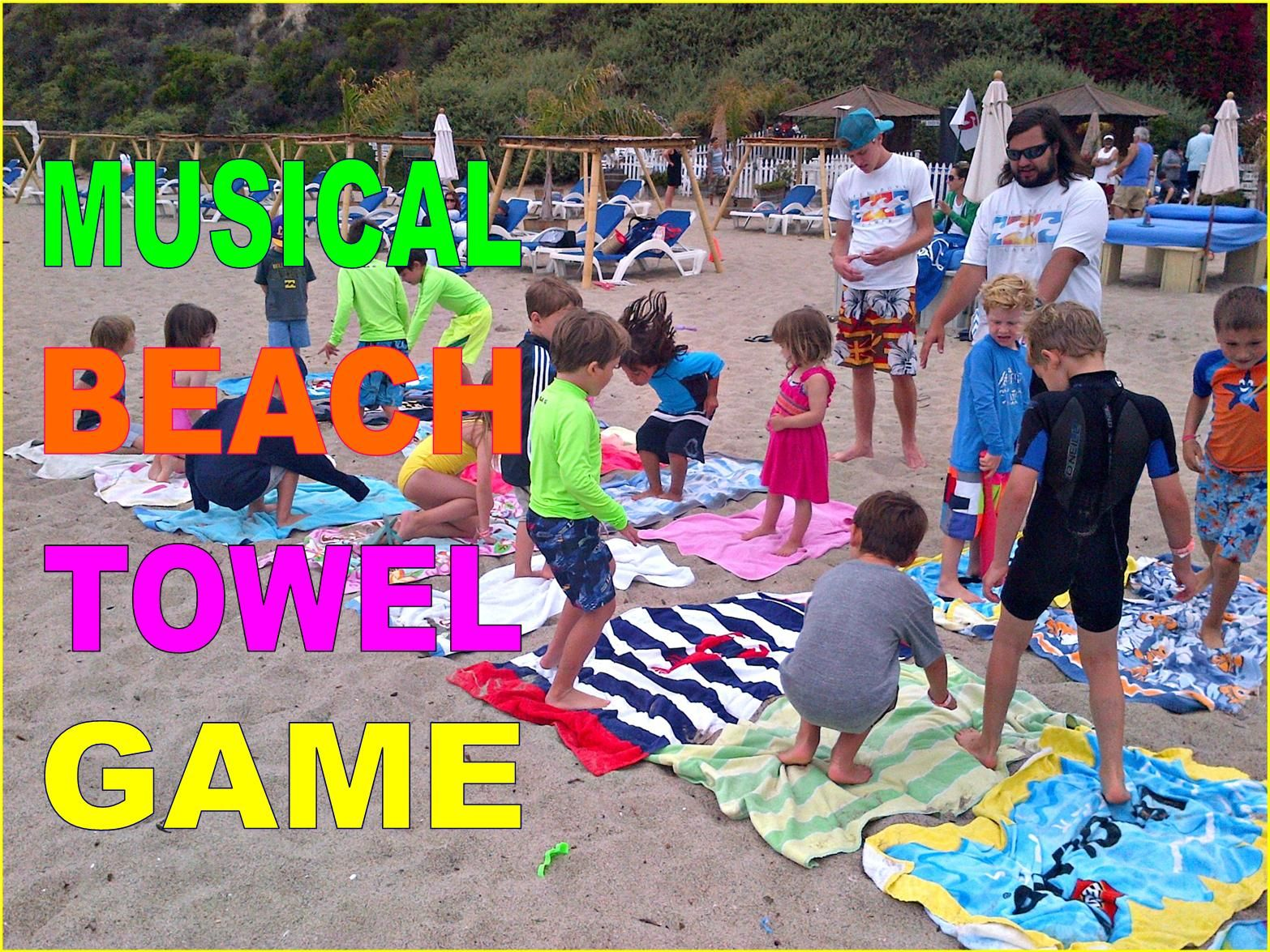 Musical Beach Towels At Aloha Camp Summer Just Like Chairs But More Fun