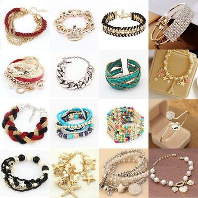 awesome New Fashion Lot Styles Womens Retro Gold Bangle Charm Cuff Bracelet Jewelry Gift - For Sale View more at http://shipperscentral.com/wp/product/new-fashion-lot-styles-womens-retro-gold-bangle-charm-cuff-bracelet-jewelry-gift-for-sale/