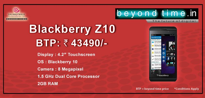 Add a zing to your appeal with Blackberry Z10 from www beyondtime in