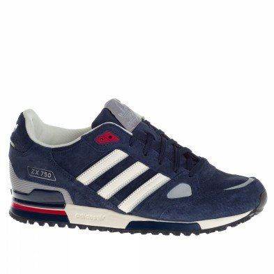 buy online 91db7 bee39 Amazon.com  Adidas Trainers Shoes Mens Zx 750 Dark Blue  Sports   Outdoors
