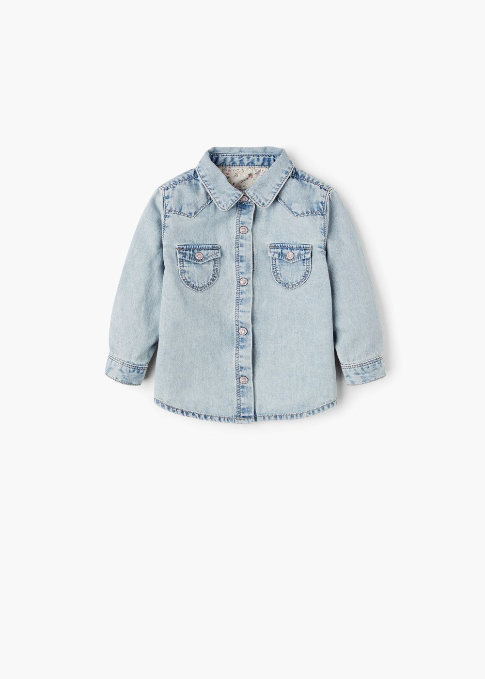 Denim shirt - Girls | Mango, Camisas y Ropa de bebés