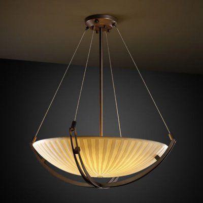 Justice Design Group Porcelina 24 In Pendant Bowl With Crossbar Dark Bronze Pna 9722 35 Wfal Dbrz Lighting Pendant Lighting Light Fittings