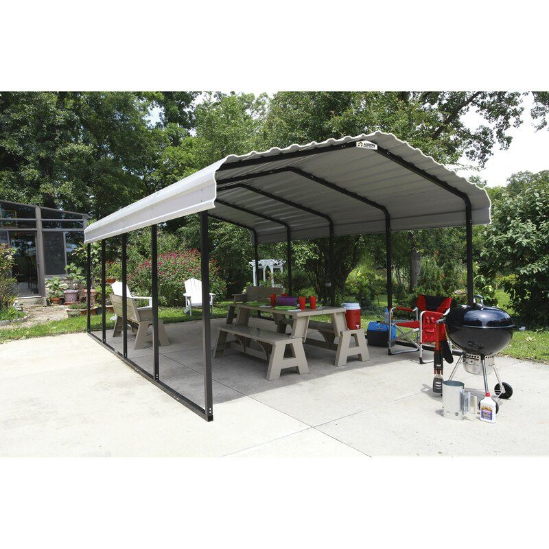 Steel Carport 12 Ft. x 20 Ft. Canopy in 2020 Steel
