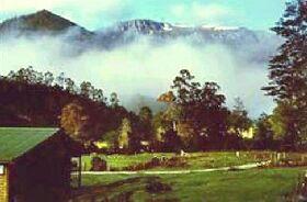 mountain valley  Loongana Tas