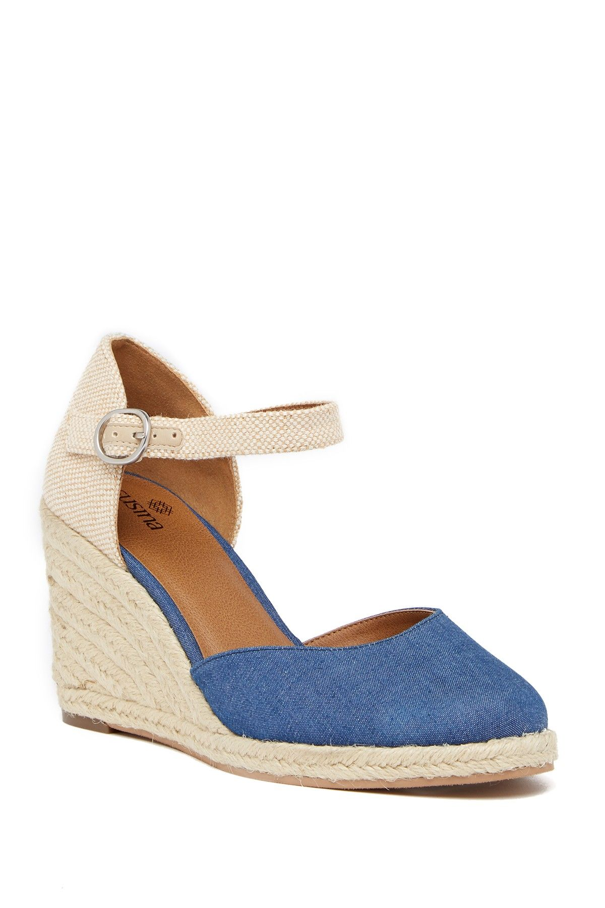 44eaa16b20e Lily Ankle Strap Wedge Sandal