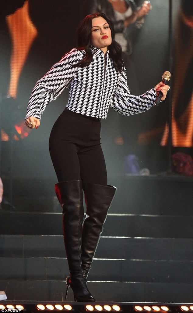 She's got the moves! It's a miracle Jessie J kept her balance in the stiletto heels she danced around the stage in
