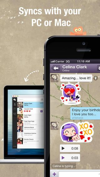 Top Free iPhone App #56: Viber - Viber Media, Inc  by Viber
