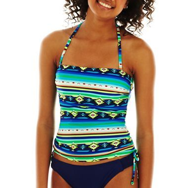 Arizona Side-Shirred Bandeaukini Swim Top - jcpenney