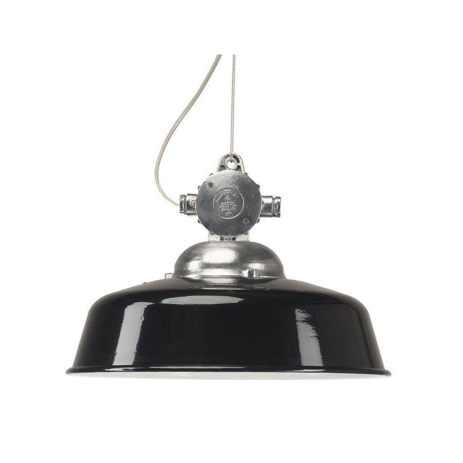 NEWARK Industriestil-Pendelleuchte *Die Industriestil-Fabriklampe in Schwarz