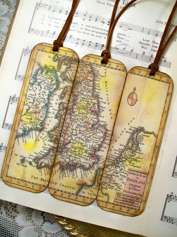 Scotland kingdom of england wales ireland netherlands historical historical map bookmarks set of 3 old world 1706 map scotland kingdom of england gumiabroncs Choice Image