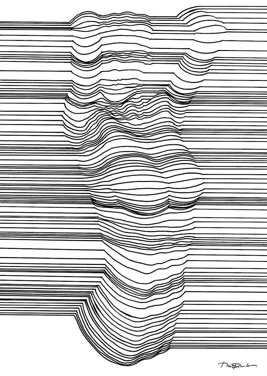 3d Line Art : Optische täuschung mit d effekt durch geschickte