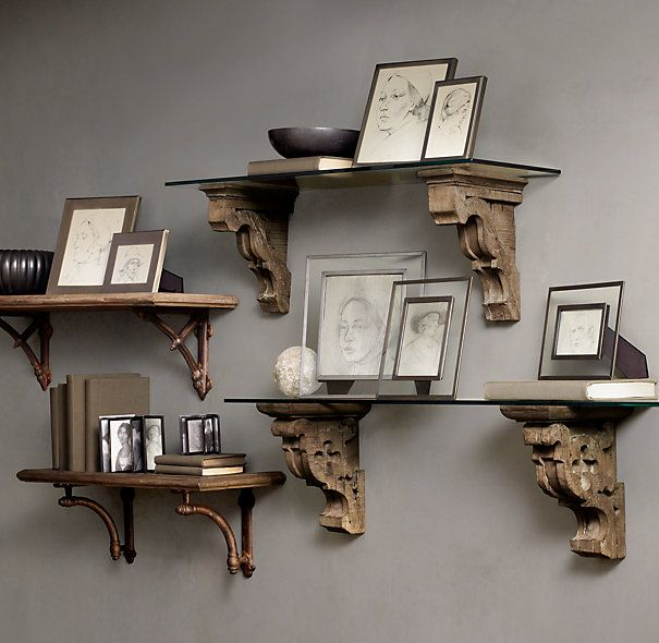 gothic corbel glass shelf and aris corbel glass shelf rh pinterest com corbels for kitchen shelves where to buy corbels for shelves