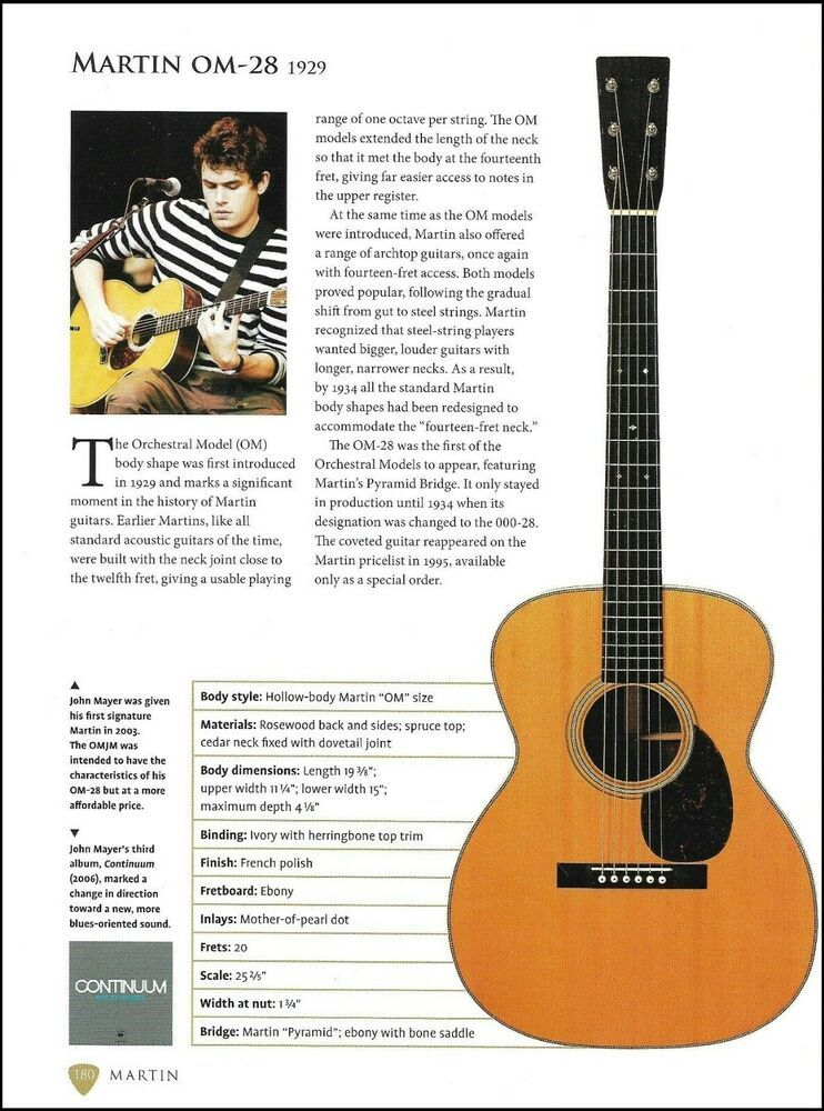 John Mayer Martin OM-28 + Vintage Martin 2-27 acoustic guitar