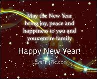 May The New Year Bring You Joy Peace And Happiness Happy New