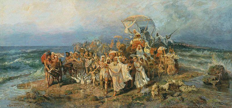 Cross jews across Yam Suph. 1890 .Wilhelm Kotarbińsk