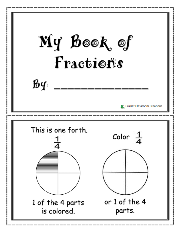 fraction booklet for primary grades math math fractions and school. Black Bedroom Furniture Sets. Home Design Ideas