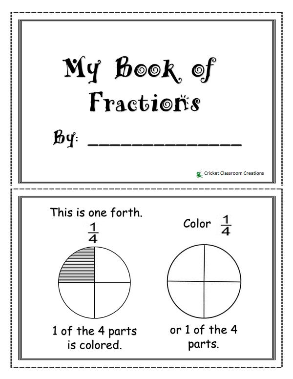 Fraction booklet for primary grades pinterest math math fraction booklet ideal for first graders maxwellsz