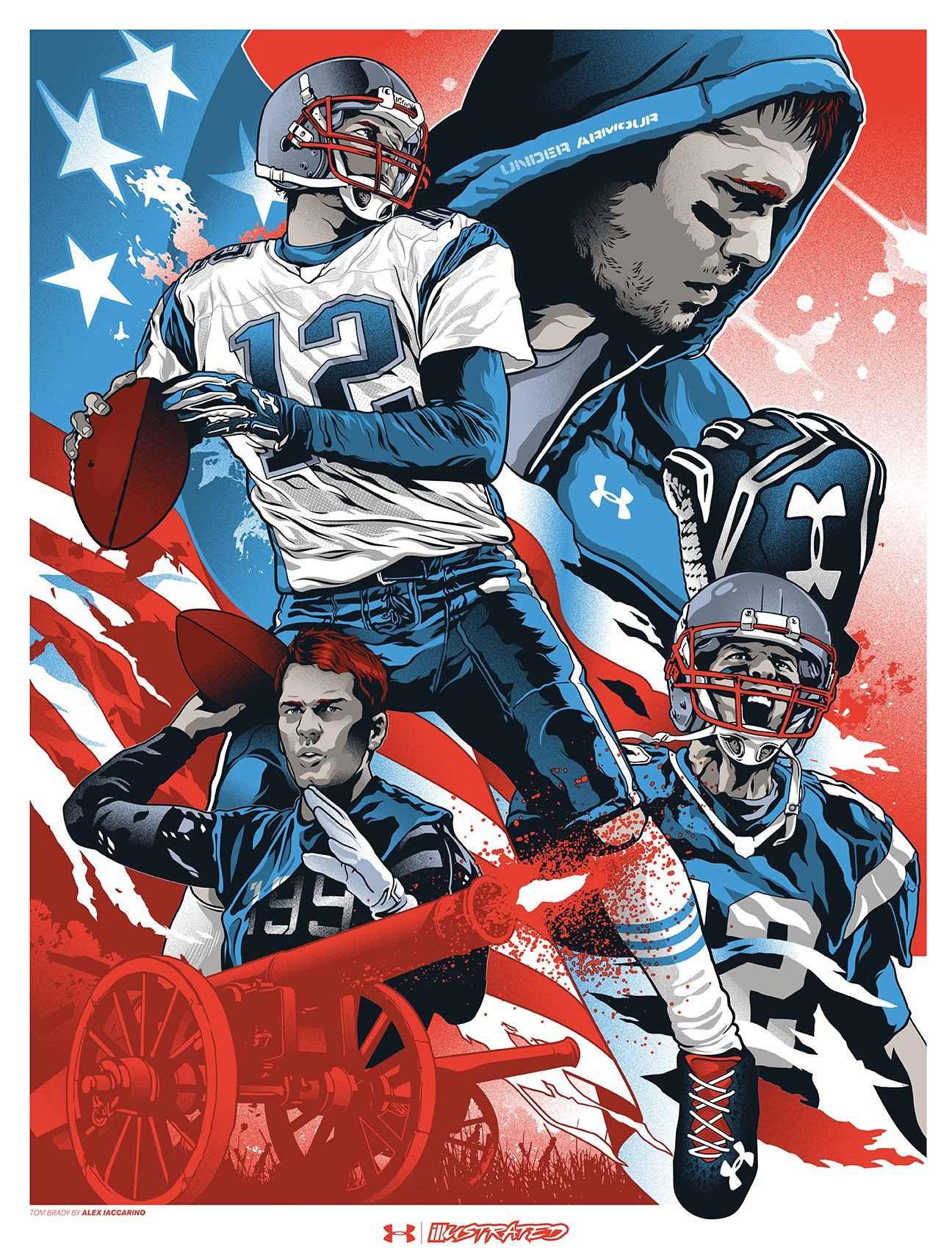 Tom Brady Patriots By Alex Iaccarino For Under Armour Comic Book