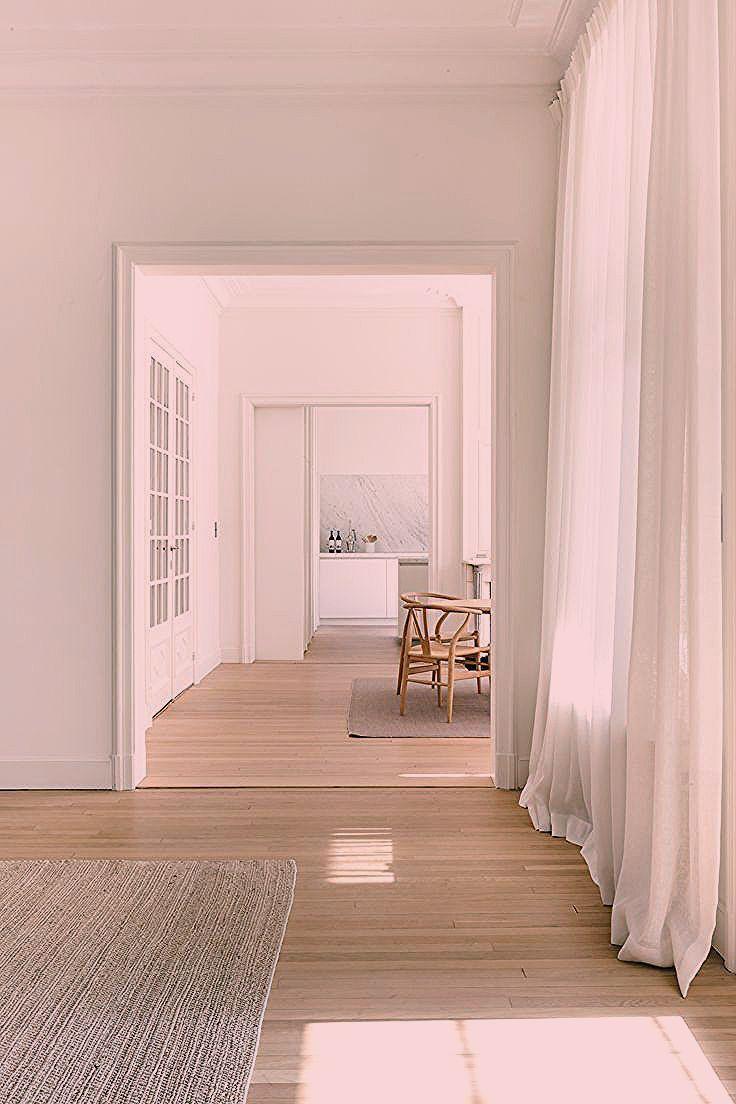 Minimalist White Living Space #homedecor #whitewalls #whitehome