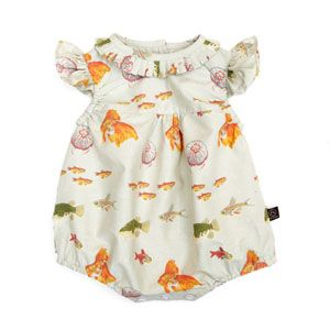 Little Duckling Fish Print Baby Romper