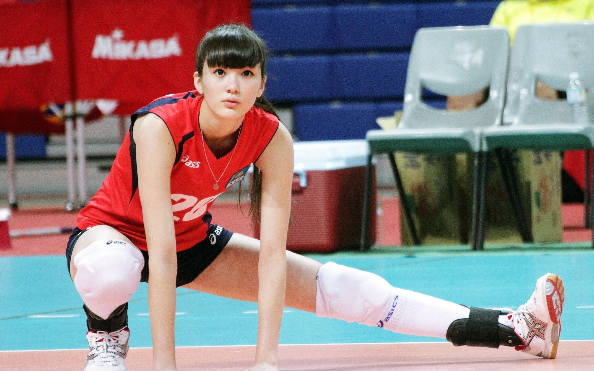 Sabina Altynbekova In Action Pemain Bola Voli Spice Girls Pria