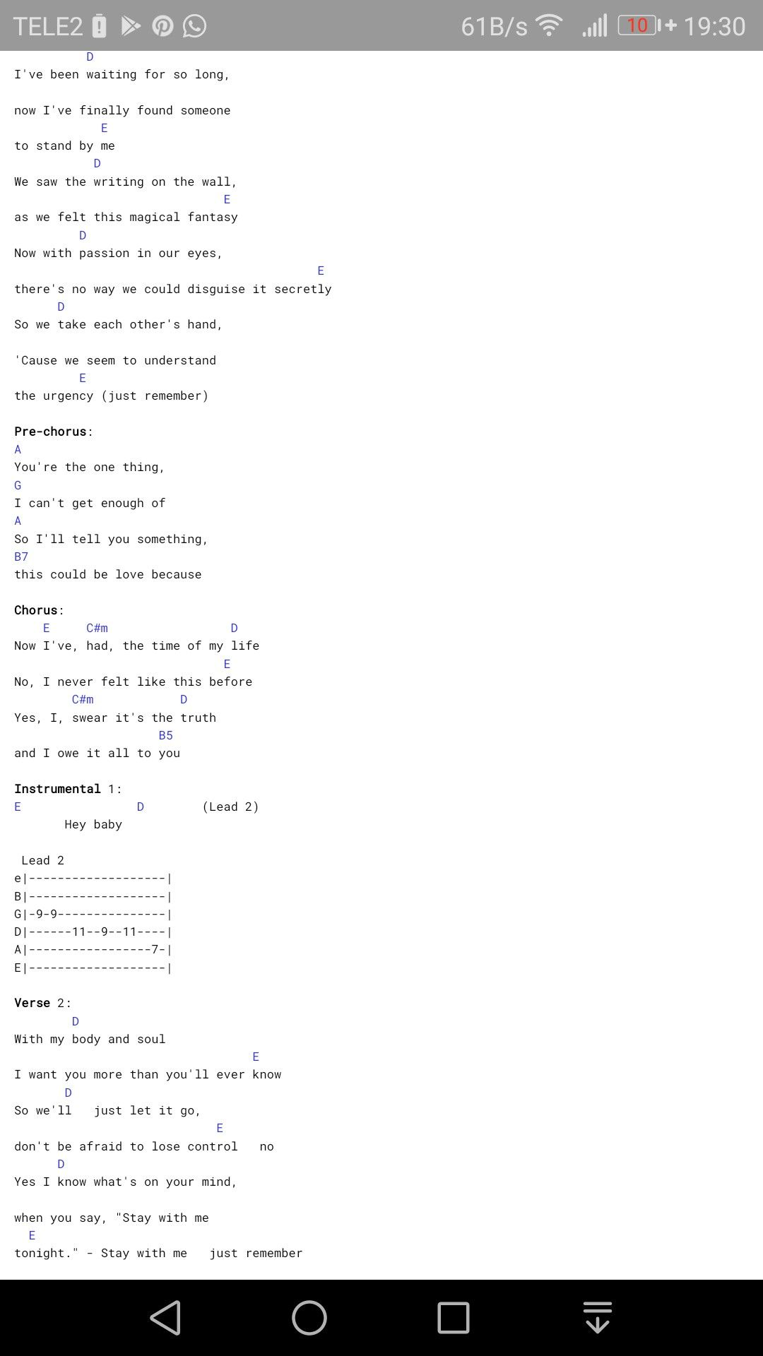 The Stand Lyrics And Chords   Link Pico