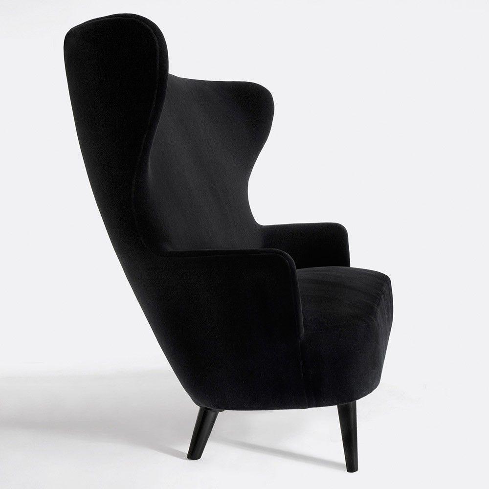 Tom Dixon Poltrona.Tom Dixon Wingback Chair Meble Black Armchair Tom Dixon