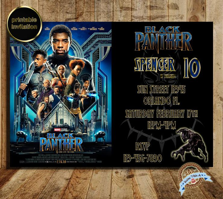 Black panther invitation black panther invite marvel black panther black panther invitation black panther invite marvel black panther black panther party stopboris Choice Image