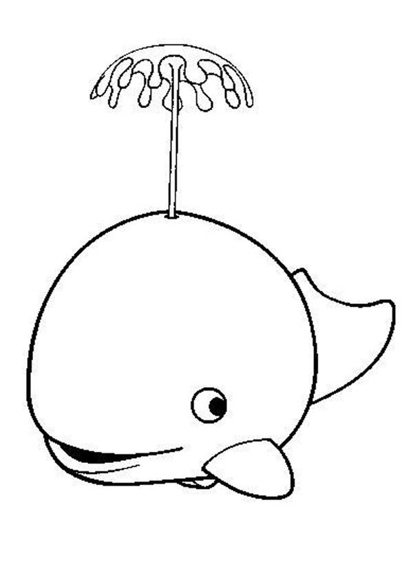 Cute whale coloring page. Nice coloring sheet of sea world
