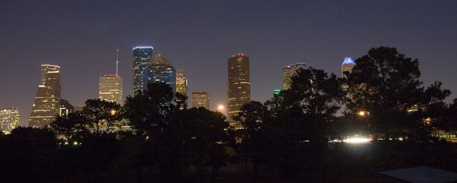 Houston, TX : Downtown Houston viewed from the East