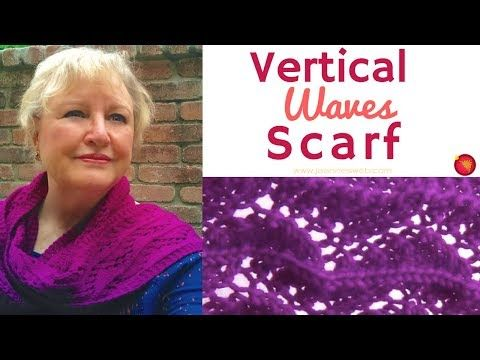 Vertical Waves Scarf Zig Zag Lace Scarf Knitting A Lace Scarf