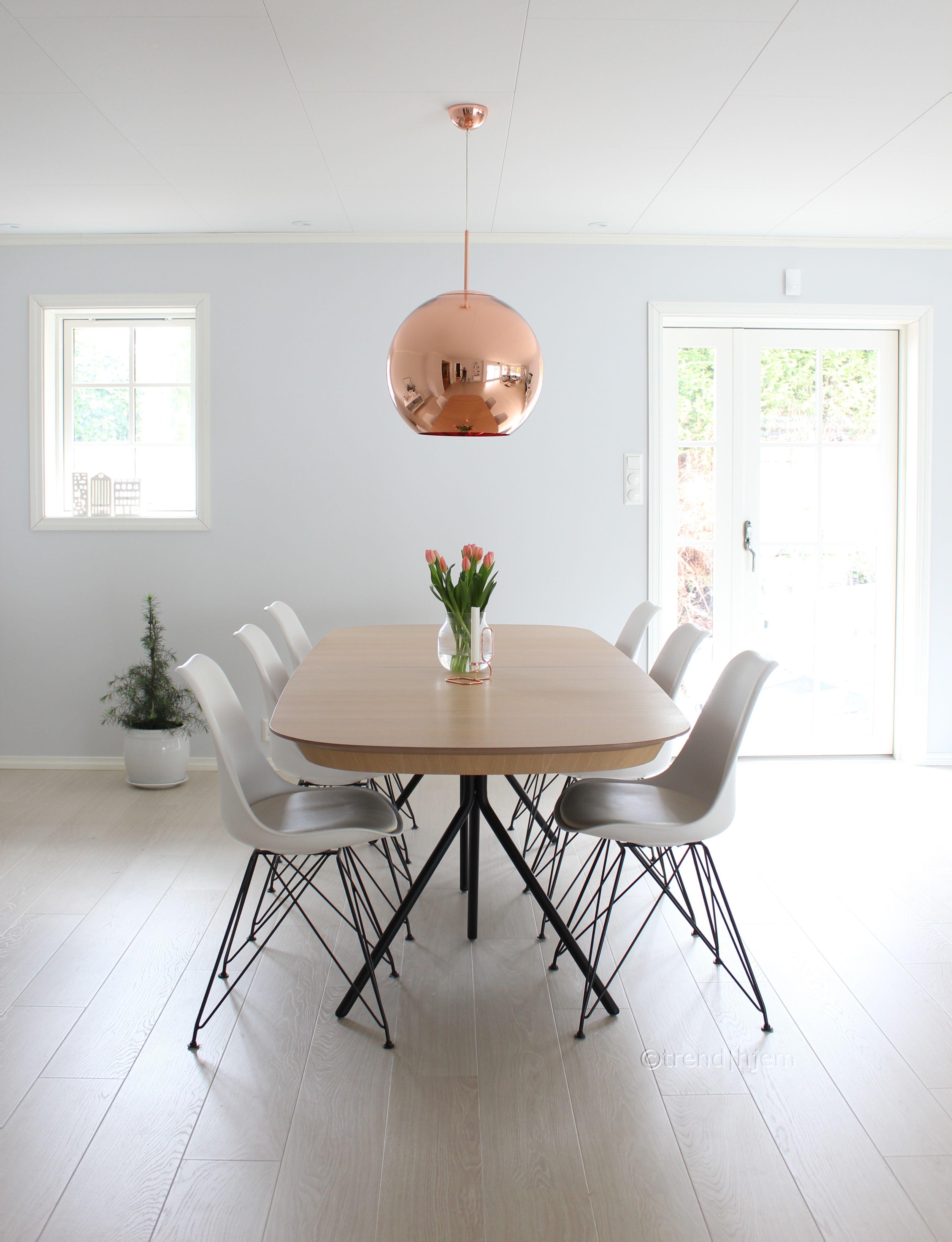 Taklampe I Skinnende Kobber Fra Tom Dixon Trend Hjem Hjem Taklampe Spisestue