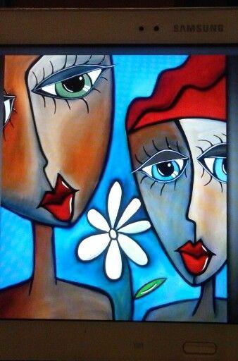 Caras Tristes Pinturas Abstractas Arte En Lienzo Arte Abstracto