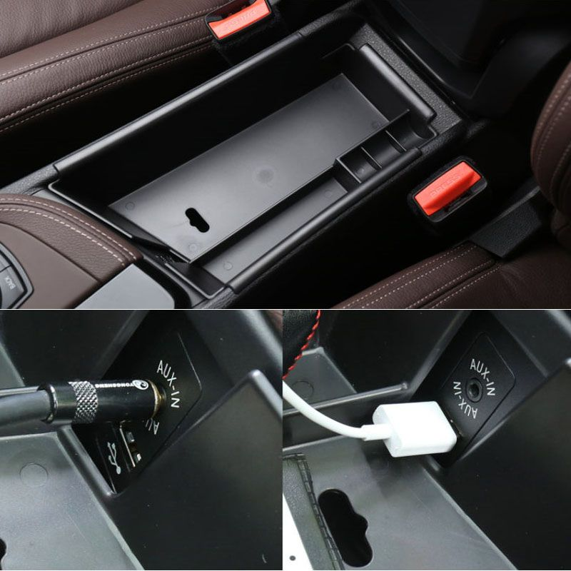 Black Carbon Fiber ABS Dashboard Trim For BMW X1 F48 20i 25i 25le 2016-2017 2018