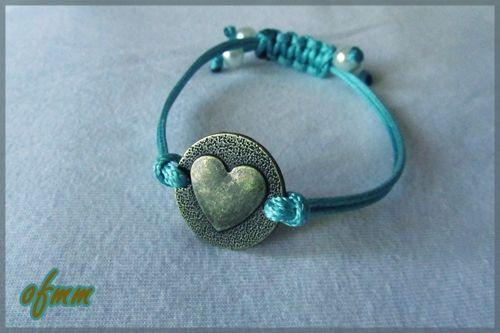 Pulsera corazón bronce http://artesanio.com/oh-fimmo