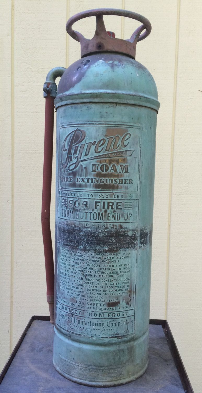 Vintage Pyrene Brass and Copper 2 and 1/2 Gallon Foam Fire ...