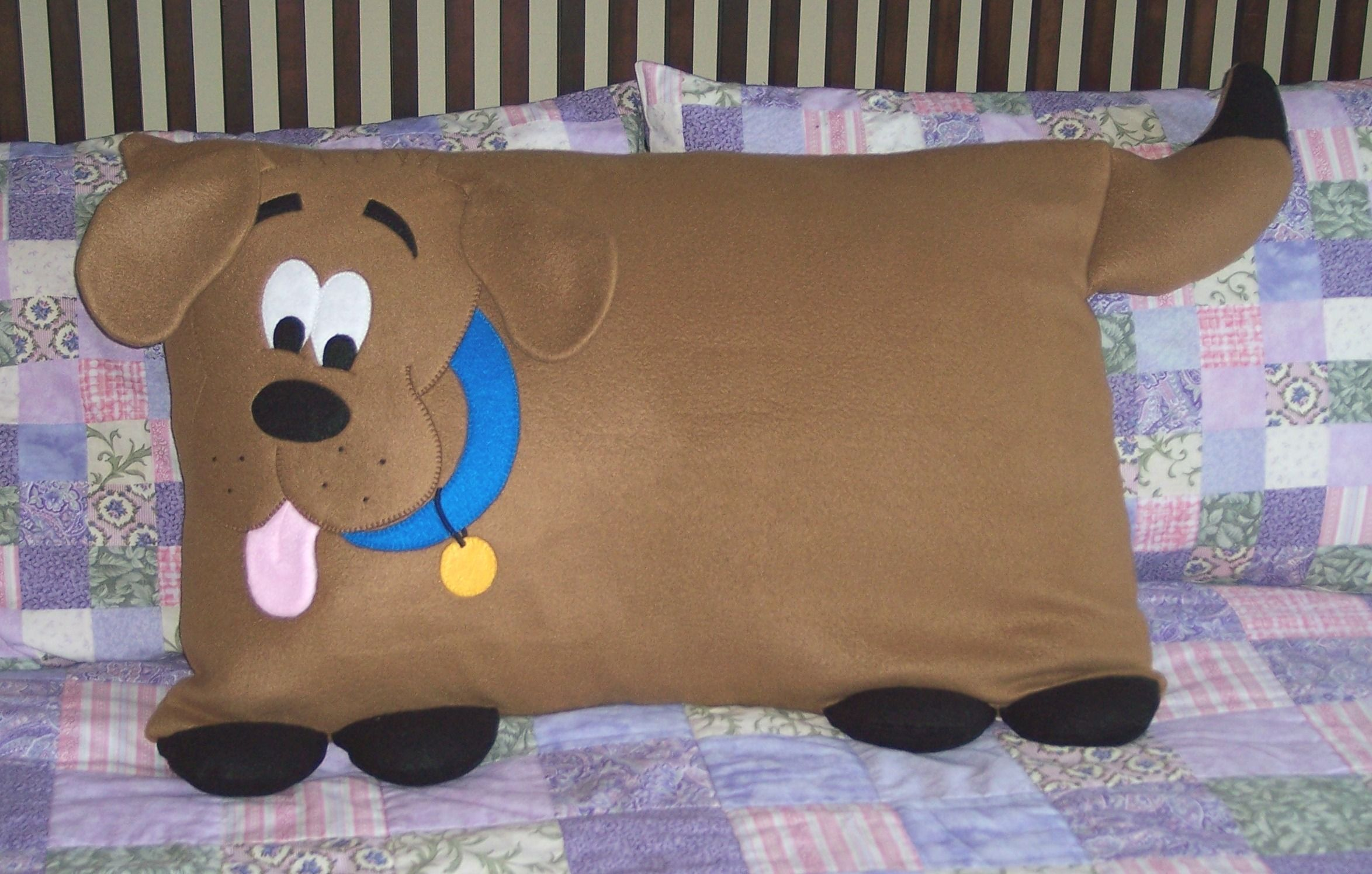 Dog Pillow Sham from 3 Silly Monkeys on Etsy.  Made from soft fleece.  Fits a st...