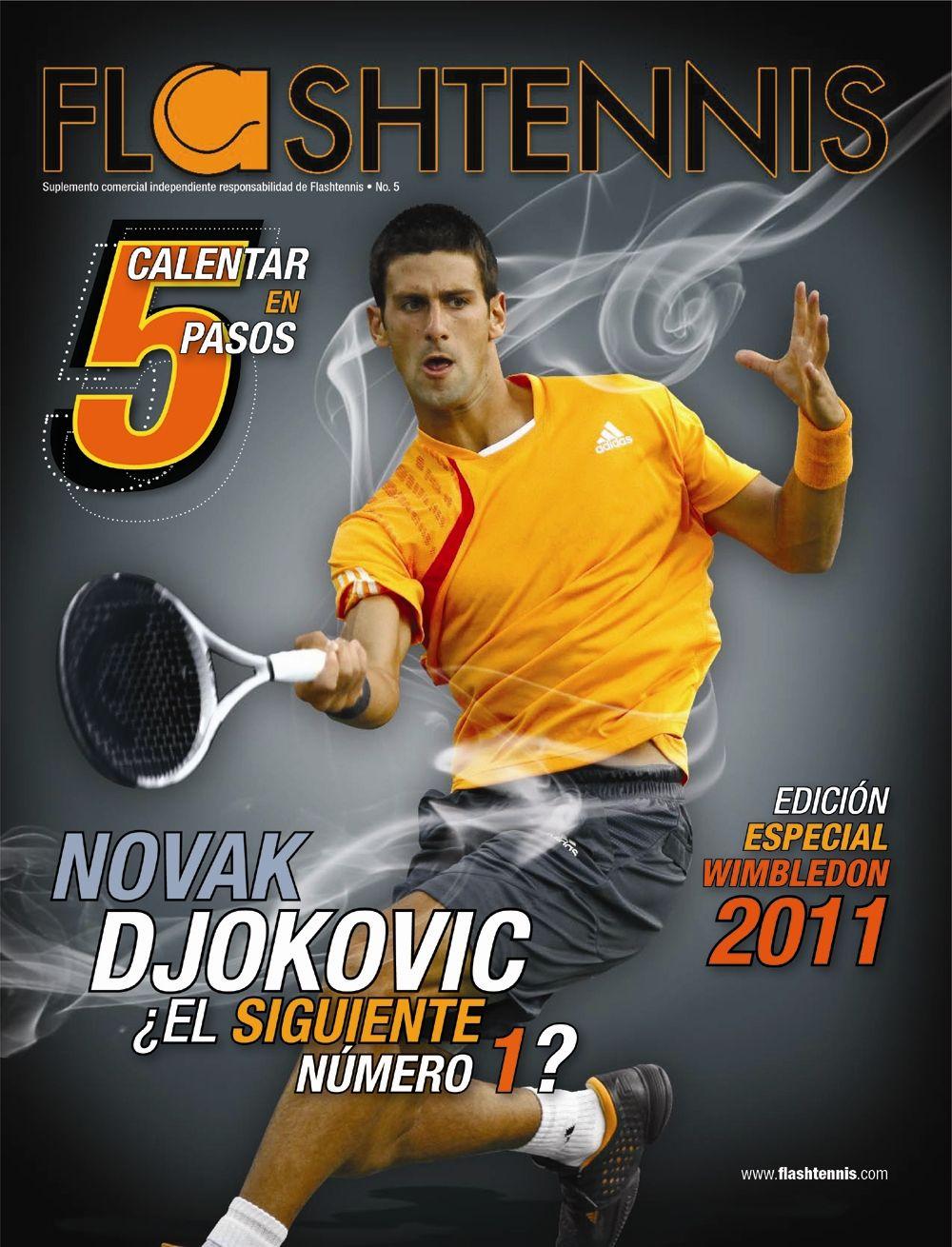 Novak Djokovic en la portada de Flashtennis No. 5   www.flashtennis.com