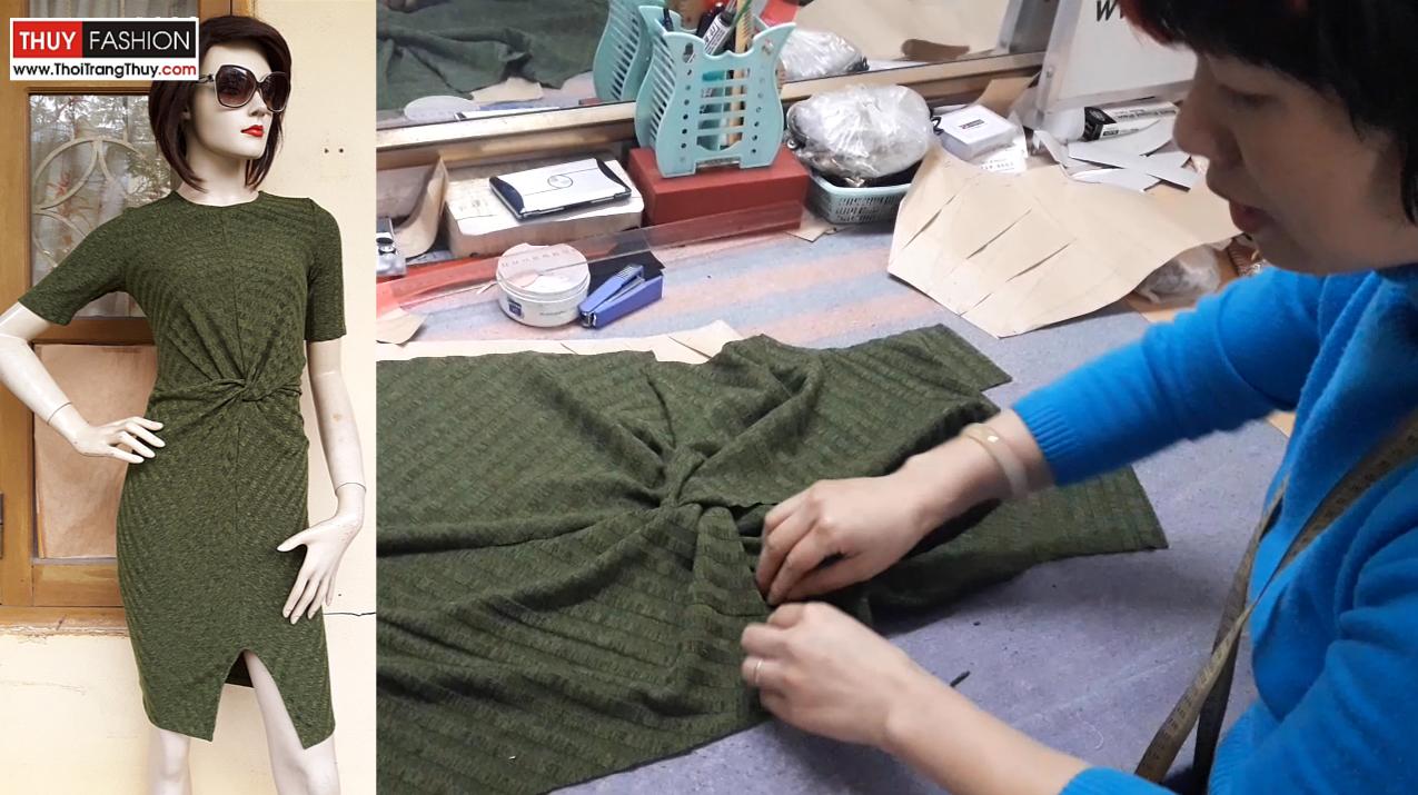 Kết quả hình ảnh cho Hướng dẫn cách thiết kế váy xoắn eo