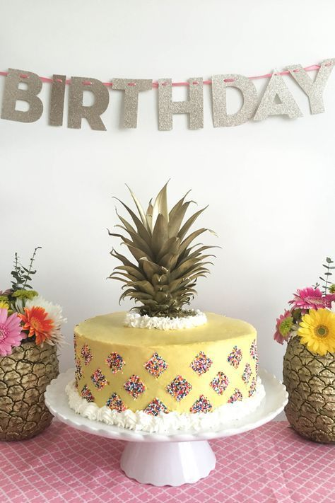 Pineapple Party Cake | Home • | Pinterest | Cake, Birthdays and Food
