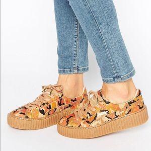 quality design a9637 cc9b5 Puma Shoes - New puma Rihanna Fenty Creepers orange Camo ...