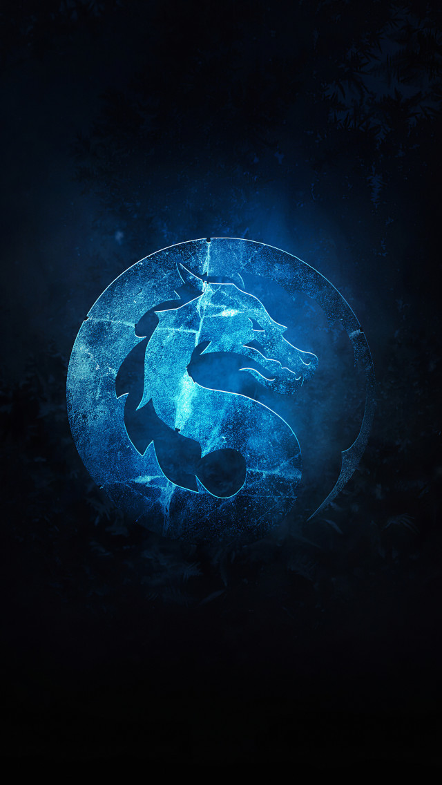 blue mortal kombat logo png