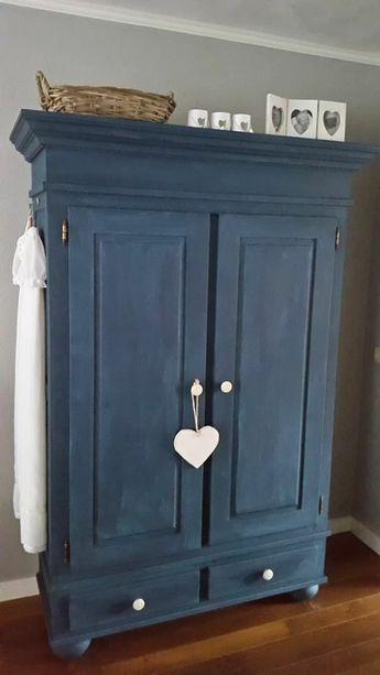 ▷1001+ idées pour relooker une armoire ancienne Chalk paint - Moderniser Un Meuble Ancien