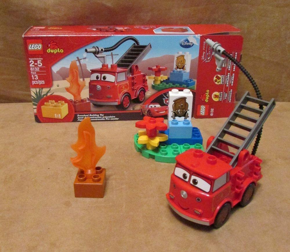 6132 Duplo Lego Red Complete Disney Pixar Cars Original Stanley Firetruck Set Disney Pixar Cars Disney Pixar Lego