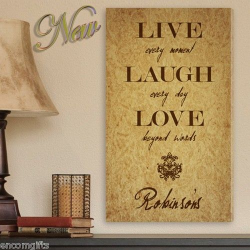 CANVAS WALL ART PRINT Personalized LIVE LAUGH LOVE GALLERY WRAPPED ...