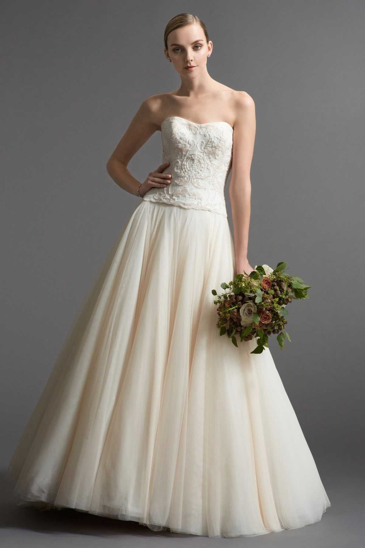Watters wedding dresses style guilia b watercolor wall