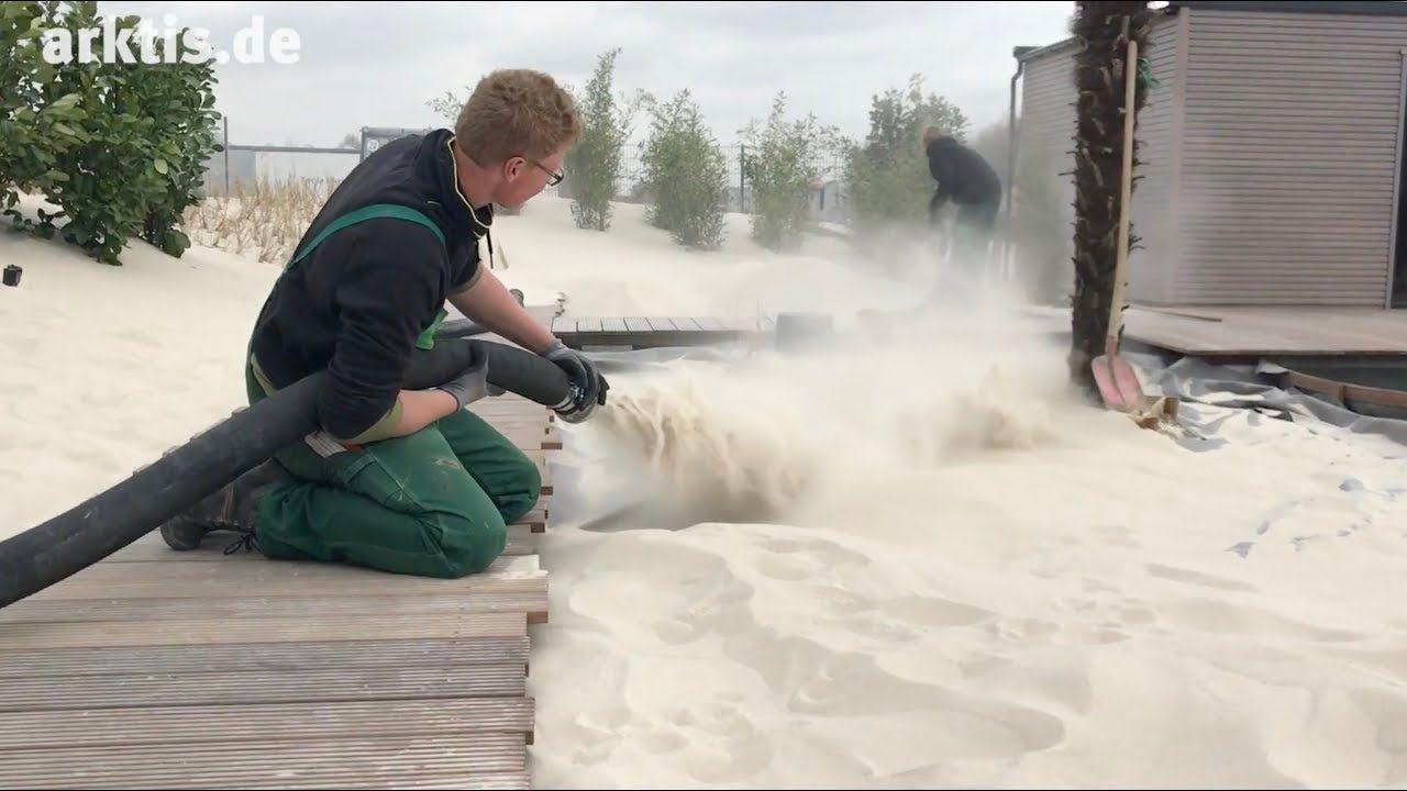 Arktis Beach Der Eigene Strand Mit Pool Im Garten So Geht S Mit Garten Brauers Youtube In 2020 Pool Im Garten Garten Natur Pool