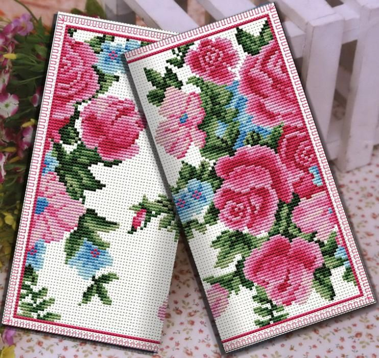 Free Shipping DIY unfinished Cross stitch wallet Women long design women's cross-stitch purse kit butterflies and flowers
